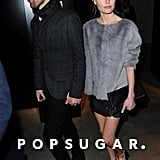 Kate Bosworth and Michael Polish arrived at Topshop's London show hand in hand.