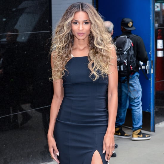 Ciara Showing Engagement Ring in NYC April 2016