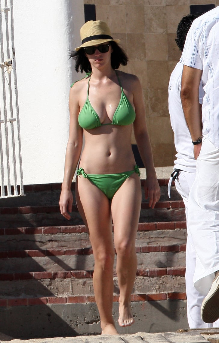 She Sported A Teeny Green Bikini In Mexico In December