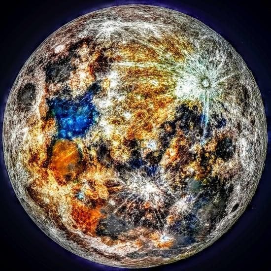 Super Moon Color Photo 2019