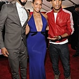 Swizz Beatz, Alicia Keys and Pharrell Williams linked up on the red carpet.