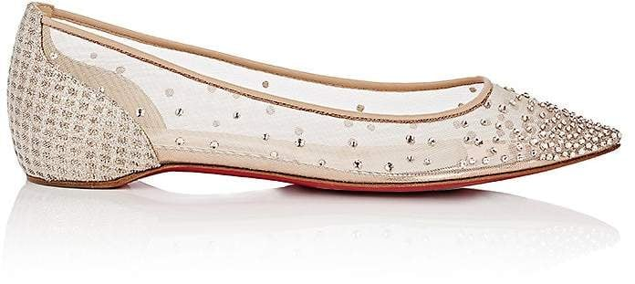 d3483eb6e89 Christian Louboutin Follies Strass Flat | Best Wedding Flats ...