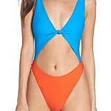 Leith Colorblock One-Piece Swimsuit