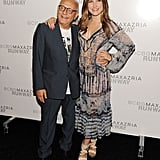 Max Azria posed with Sophia Bush at his fashion show.