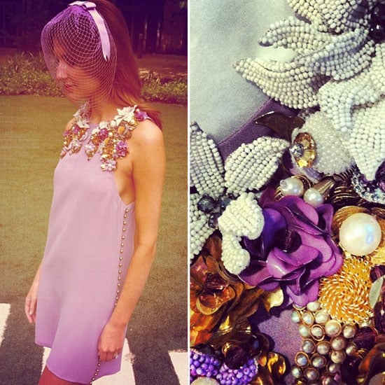Kate Waterhouse in Gucci at the 2012 Melbourne Cup