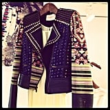 A topper with tribal edge at BCBG's Resort preview.