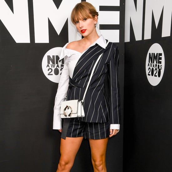 Taylor Swift's Monse Pinstripe Short Suit at the NME Awards