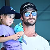 Chris Hemsworth and Daughter India Commonwealth Games 2018
