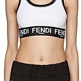 Fendi Soutien-gorge sport à logo blanc (195€)