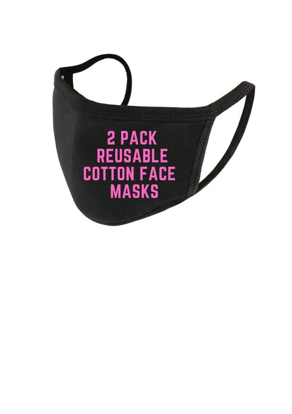 Pink and Dink Reusable Cotton Face Masks *Pre-Order* 2 x His or Her Washable