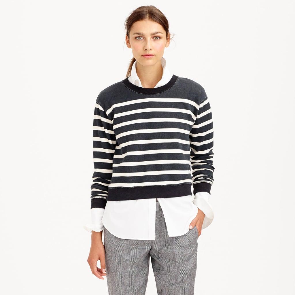 J.Crew Stripe Cropped Sweatshirt ($65)