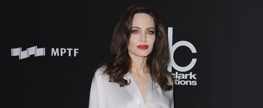 Angelina Jolie's Silver Jenny Packham Dress