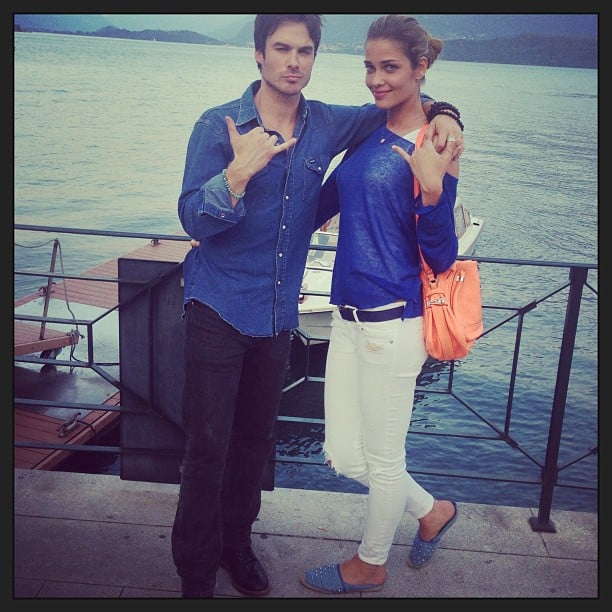 Ian Somerhalder and Ana Beatriz Barros stayed close after wrapping production on their recent Azzaro shoot. Source: Instagram user anabofficial