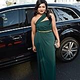 Mindy Kaling arrived at the Emmy Awards.