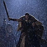 Even in the rain, he's the ultimate gladiator.