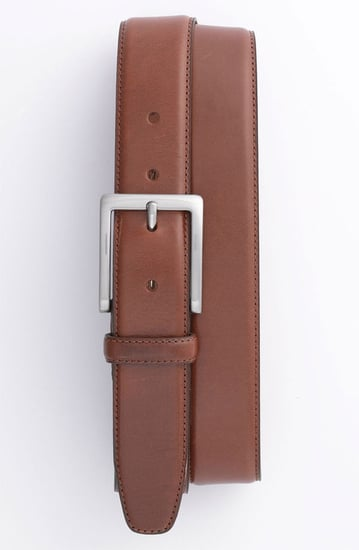 Trafalgar Drop Edge Stitch Leather Dress Belt