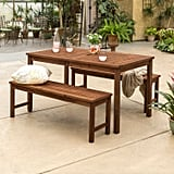 Acacia Wood 3-Piece Patio Dining Set