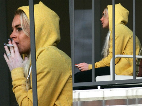 Lohan Smokes Behind Bars After Not Really Being So
