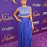 Jada Pinkett Smith's Genie Outfit at Aladdin Premiere