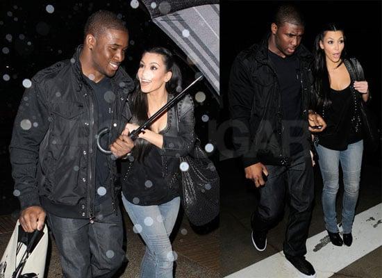 Photos of Kim Kardashian and Reggie Bush at Ralph Lauren in Beverly Hills Wearing Leather Jackets