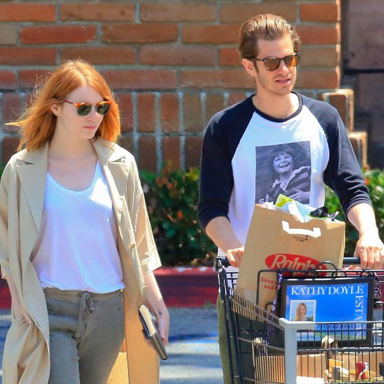 Emma Stone and Andrew Garfield Grocery Shopping in LA