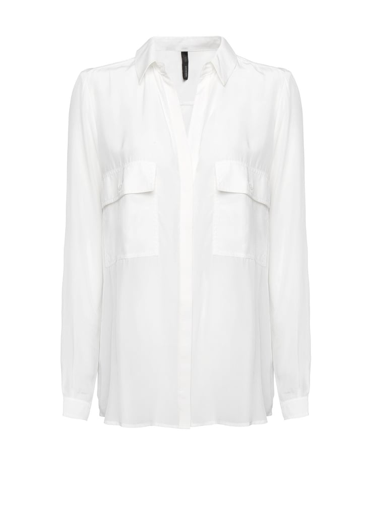 Oversize, silky, but totally classic: this pocketed version from Mango ($70) is a layering staple must have.