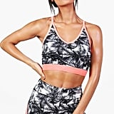 Boohoo Racer Back Sports Bra
