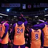 The Lakers Wear Kobe's Jerseys