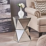 Great Deal Furniture Aedon Mirrored Side Table
