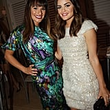 Lucy Hale and Lea Michele caught up during cocktail hour.