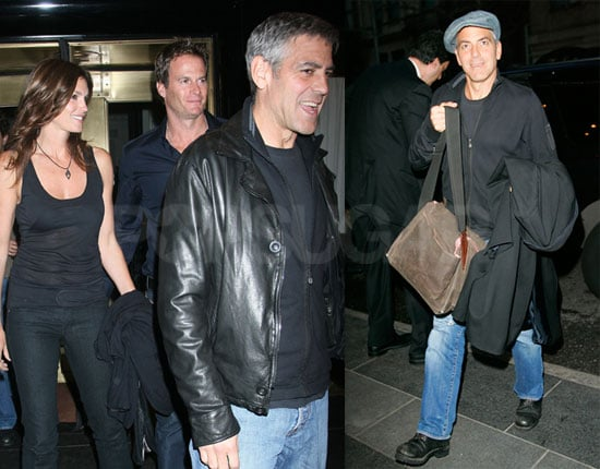 Leatherheads Star and Director George Clooney Out with Cindy Crawford and Rande Gerber