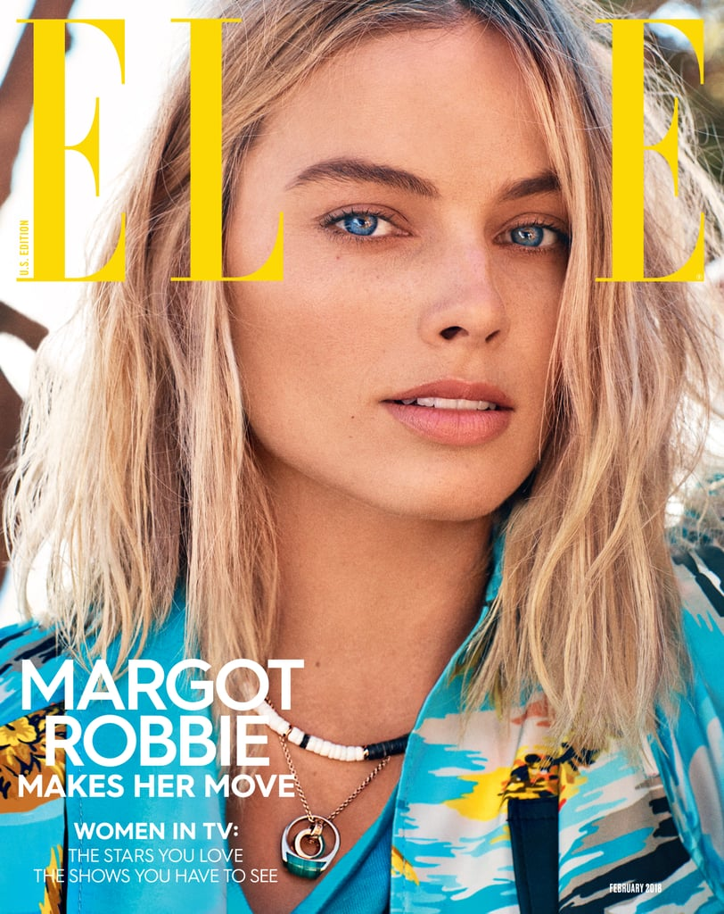 With her chameleon-like acting abilities, it's easy to forget Margot Robbie is in fact Australian. Such was the inspiration for the star's easy, breezy cover shoot for Elle's February 2018 issue. Though the 27-year-old actress is typically walking the red carpet in glamorous gowns and blinding jewels, in this editorial, she sports laid-back surf gear, groovy prints, and even a puka shell necklace.  While Margot's oceanside upbringing may have influenced the theme of the shoot, we also couldn't help but feel like it was partly inspired by the early-'00s classic Blue Crush — which is currently getting an NBC reboot, by the way. Does she not look like a dead ringer for Kate Bosworth's Anne Marie Chadwick? See for yourself by checking out the full shoot ahead.      Related:                                                                                                           Margot Robbie's Red Carpet Looks Have All Been So Unbelievably Chic, We Can't Even Pick a Favorite
