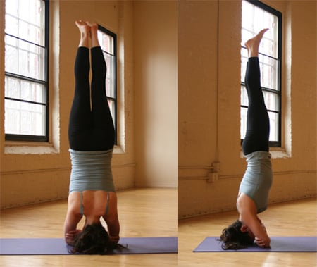 YOGA CHALLENGE:  Double Arm Headstand