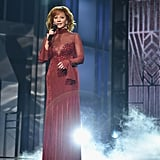 Reba McEntire Red Dress at 2018 ACM Awards