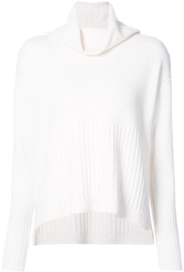 Derek Lam 10 Crosby Ribbed Cowl Neck Sweater