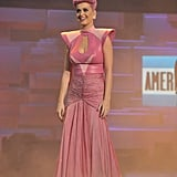 Katy Perry smiled after performing at the American Music Awards.