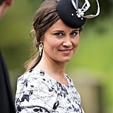 Pippa brought the drama with a bold fascinator at the wedding of Lady Melissa Percy and Thomas Van Straubenzee in June 2013.
