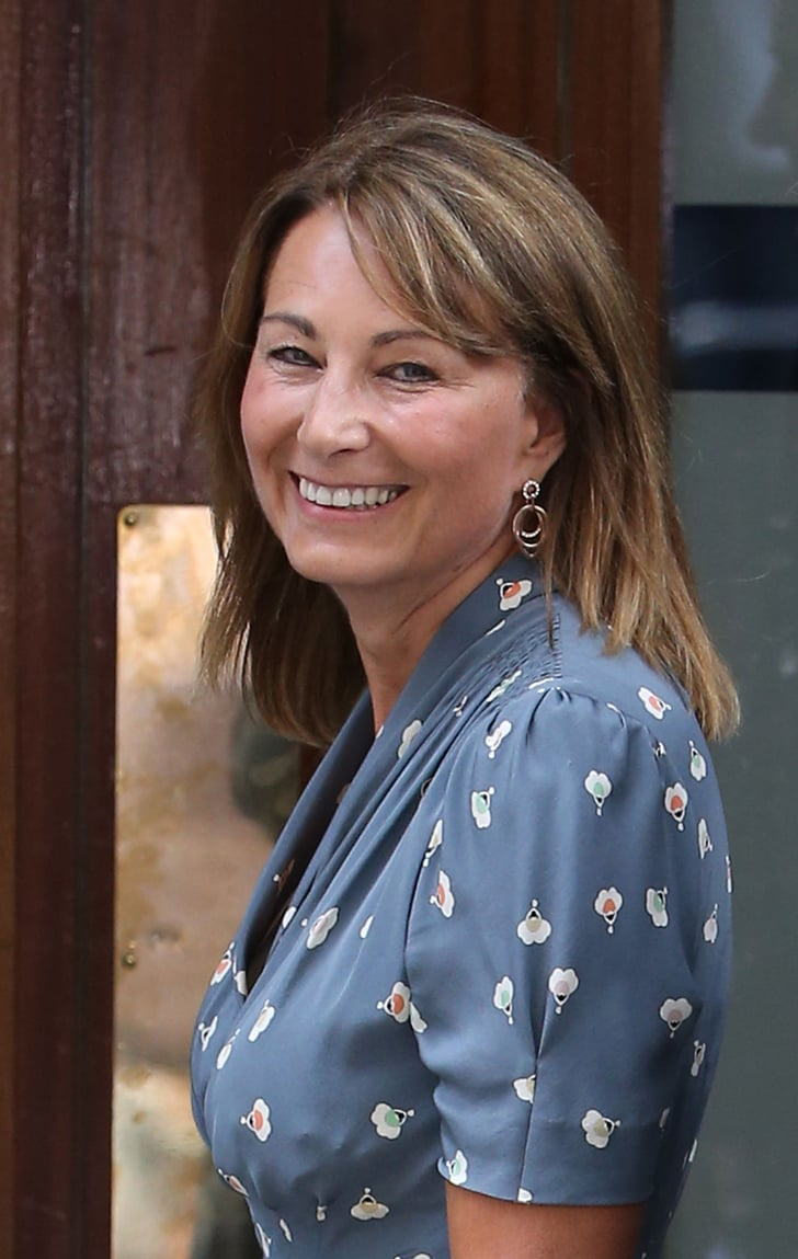 St Charles Mercedes >> Carole Middleton smiled at the photographers. | The Royal Baby's Family Visits St. Mary's ...