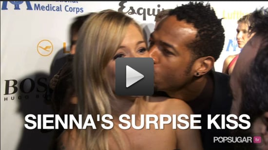 Video of Sienna Miller Getting Kissed on the Red Carpet at the Esquire House