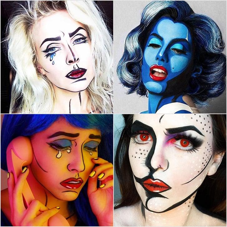 Cartoon Halloween Makeup.Pop Art Halloween Makeup Popsugar Beauty