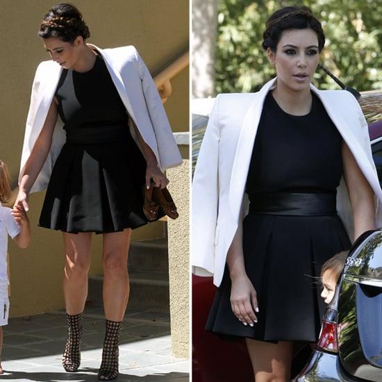 Kim kardashian dress white and black