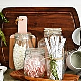 Use Glassware to Display Toppings and Straws