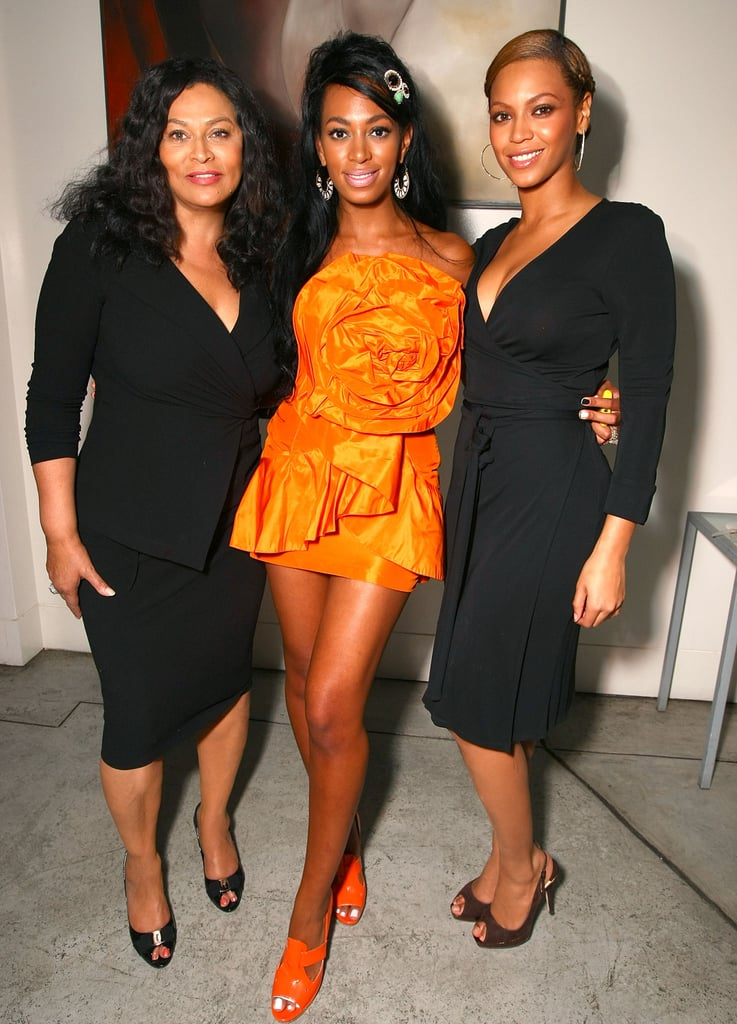 Solange was photographed with Tina and Beyoncé at her 22nd birthday party on June 23, 2008.