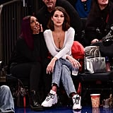 Bella Hadid Sat Courtside For the Knicks vs. Los Angeles Lakers Basketball Game