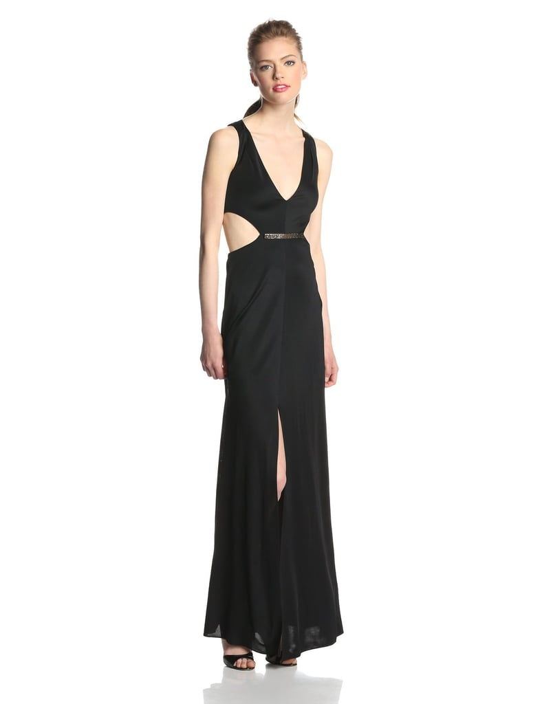 BCBGMAXAZRIA Women's Valentina Side Cut Out V-Neck Gown ($298)