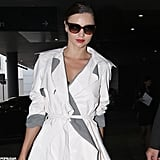 Miranda Kerr caught a flight.