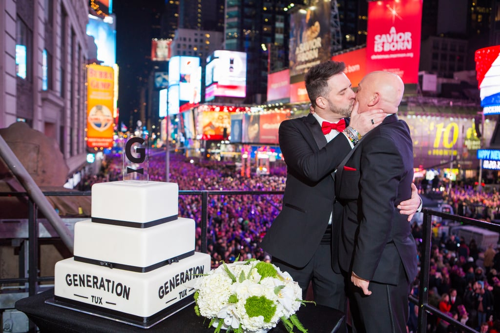 Alexander and Michael said their vows in a New Year's Eve ceremony that took place live in Times Square. See the wedding here!