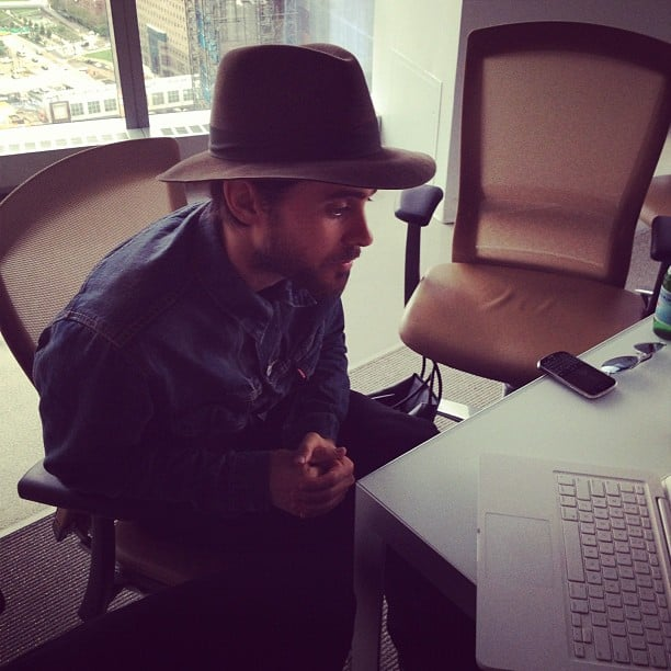 Jared Leto participated in a live chat event with fans.  Source: Instagram user fastcompany