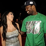 Kim Kardashian shared a laugh with 50 Cent on the MTV Australia Awards red carpet in April 2008.