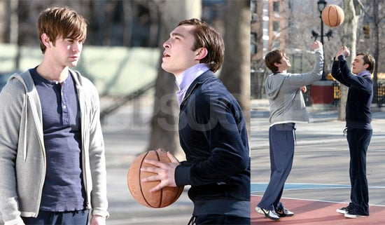 Photos of Chace Crawford, Leighton Meester and Ed Westwick Filming Gossip Girl
